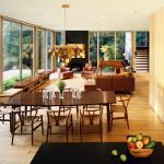 Resolution: 4 Architecture, Lakeside House, Sagamore Lake, white oak floors, woodland views, natural light, Kent, NY,