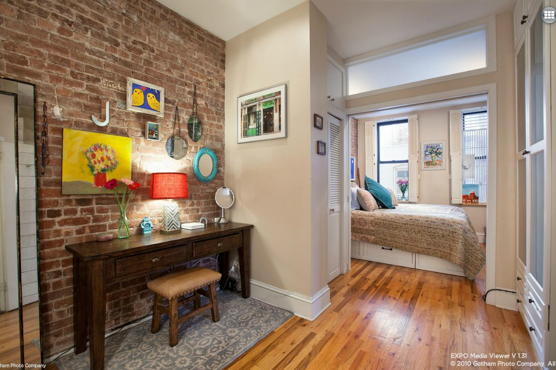 13 downing street, entrance, co-op, greenwich village, exposed brick