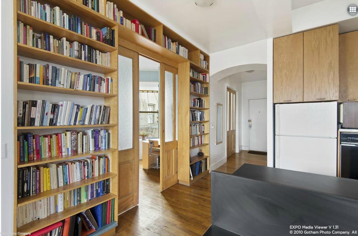 241 Eldridge Street, bookshelves, condo