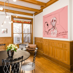 upper west side, dining room, historic townhouse, rental,