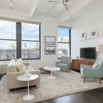 70 Washington Street, living room, dumbo, loft, windows