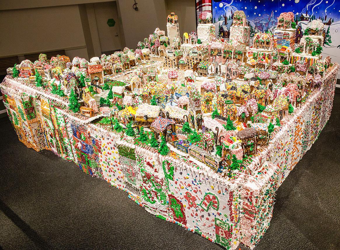 jon lovitch, GingerBread Lane, New York Hall of Science exhibits, New York Hall of Science gingerbread house, world's largest gingebread house, world's largest gingerbread exhibit, Guinness World Records gingerbread house