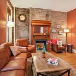 13 downing street, living room, fireplace, co-op, greenwich village