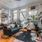 138 Baxter Street, living room, loft, rental apartment