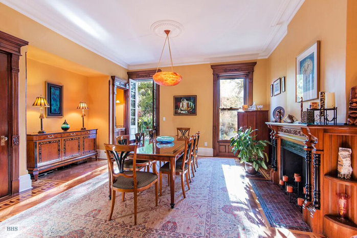 226 garfield place, brownstone, park slope, dining room