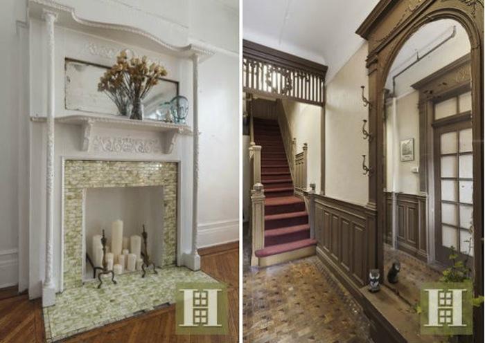 231 decatur street, interior details, bed-stuy, brownstone, fireplace