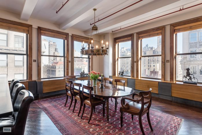 260 park avenue south, dining area, condo loft, flatiron