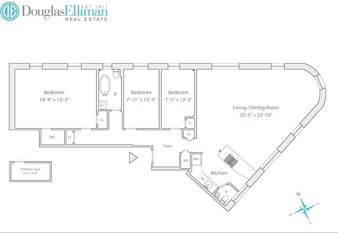 6sqft 296 sterling place floor plan for Sterling plan
