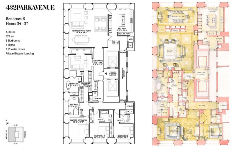 432 Park Avenue, Atelier & Company, Raphael Vinoly, Supertall Skyscrapers,Deborah Berke Partners