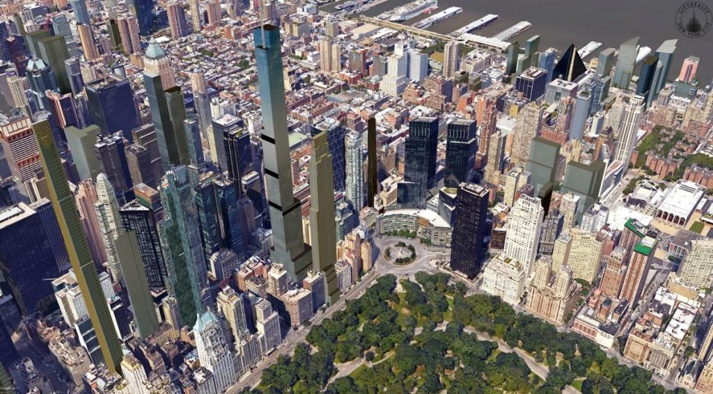Map Of Columbus Circle New York City