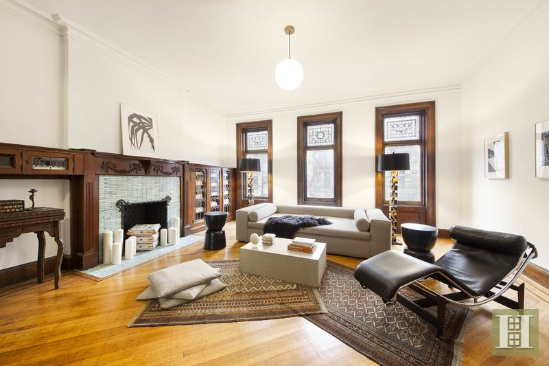 857 Carroll Street, fireplaces, living room, park slope townhouse