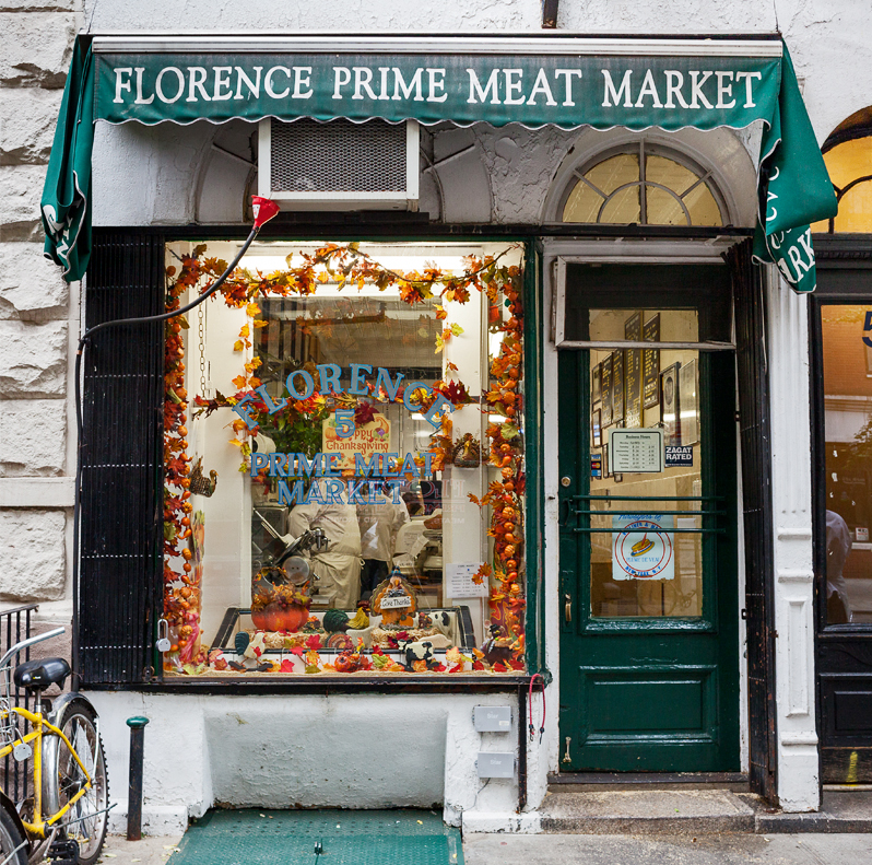 FLORENCE PRIME MEAT MARKET, NYC signage