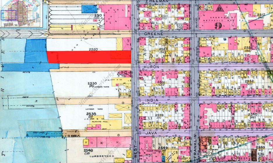 Huron Street, Brooklyn maps, historic maps