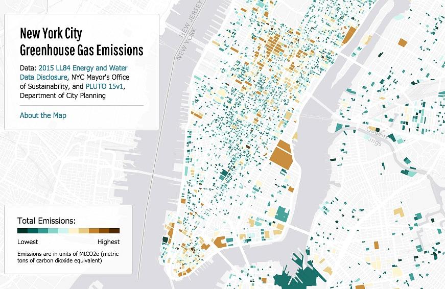 NYC Greenhouse Gas Emissions, NYC maps, Jill Hubley