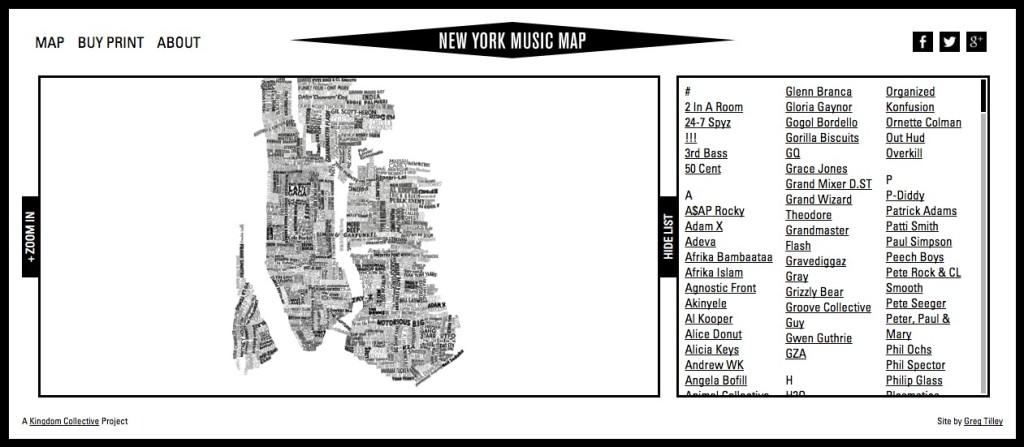 New York Music Map 1