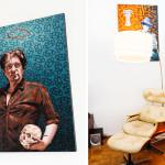 Painter Stephen Hall, Westbeth Artists Housing, inside westbeth artists housing