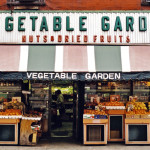VEGETABLE GARDEN, NYC signage