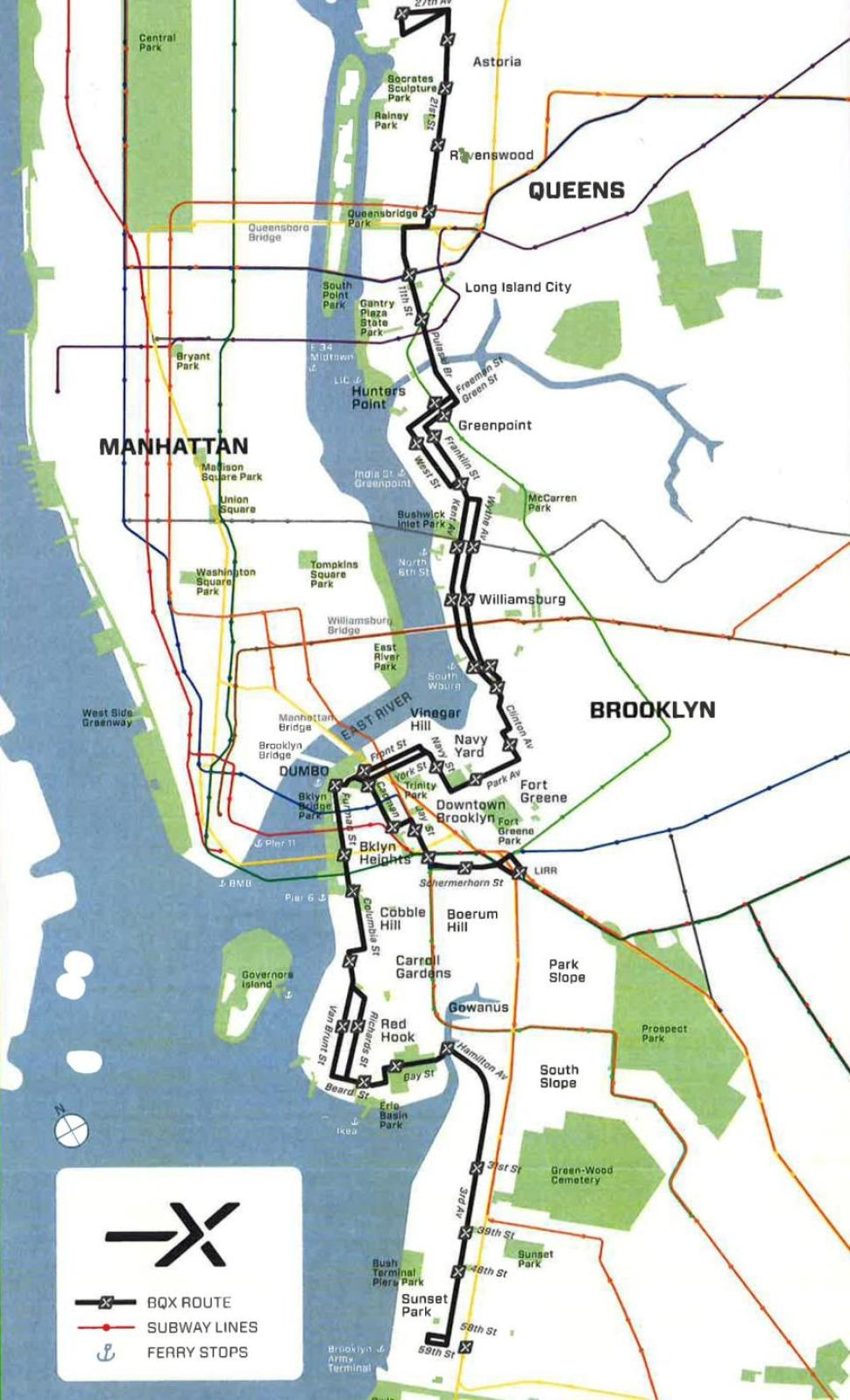 brooklyn streetcar, Friends of the Brooklyn Queens Connector, BQX lines