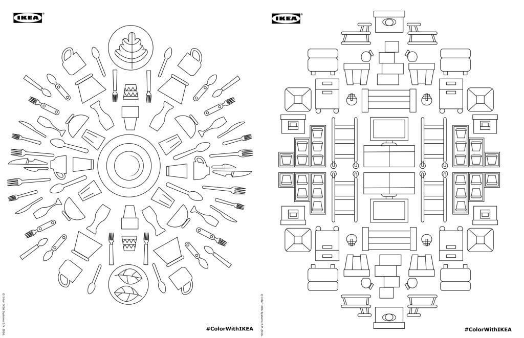 ikea coloring book, adult coloring book