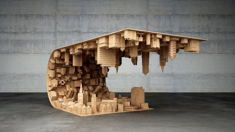 Inception Inspired Coffee Table Takes The Horizonless