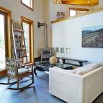 106 mountain laurel lane, living room, geometric dome house