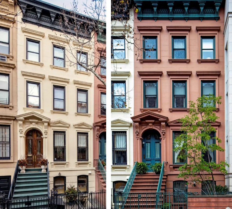 Combine this matched pair of ues townhouses for a 22m for Townhomes for sale in nyc