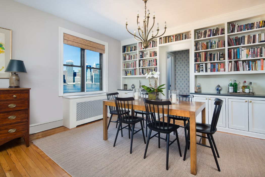 2 grace court, dining room, brooklyn heights, co-op