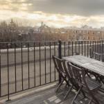 396 Franklin Avenue, roof deck, patio, brownstone roof, condo, clinton hill