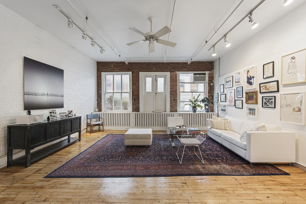 81 Grand Street, loft, soho, living room