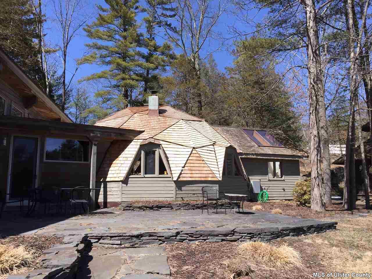 geometric dome house, 106 mountain laurel lane, catskills, woodstock