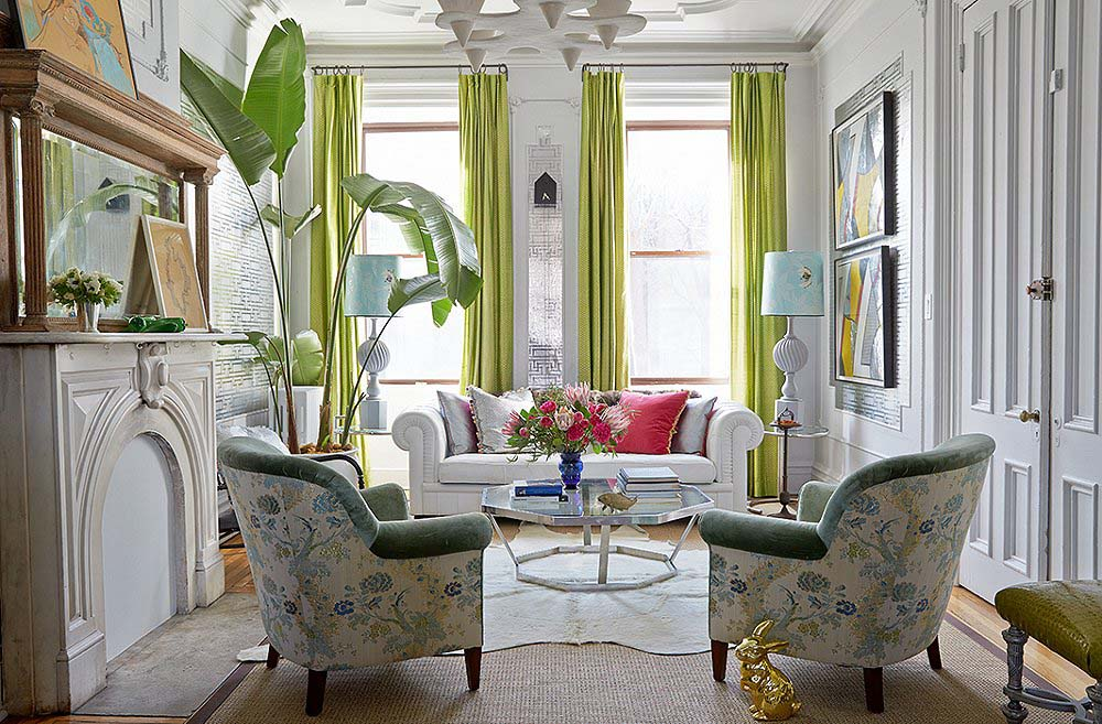 Designer fawn galli 39 s carroll gardens townhouse is for Living room west 6 brooklyn