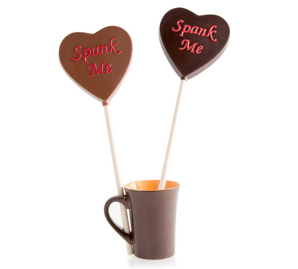 Jacques Torres Chocolate, Spank Me, chocolate lollipop, Valentine's gifts