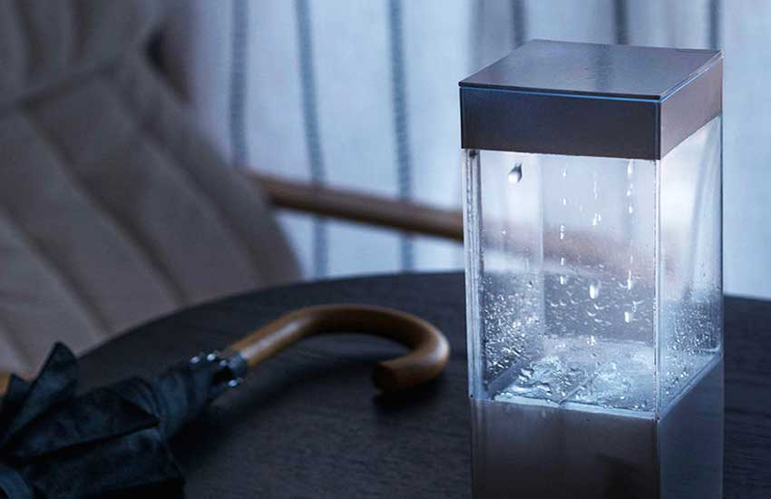 Ken Kawamoto, weather device, Tempescope, Visualize Tomorrow's Weather With Tempescope, DIY, weather forecast, OpenTempescope, LED light