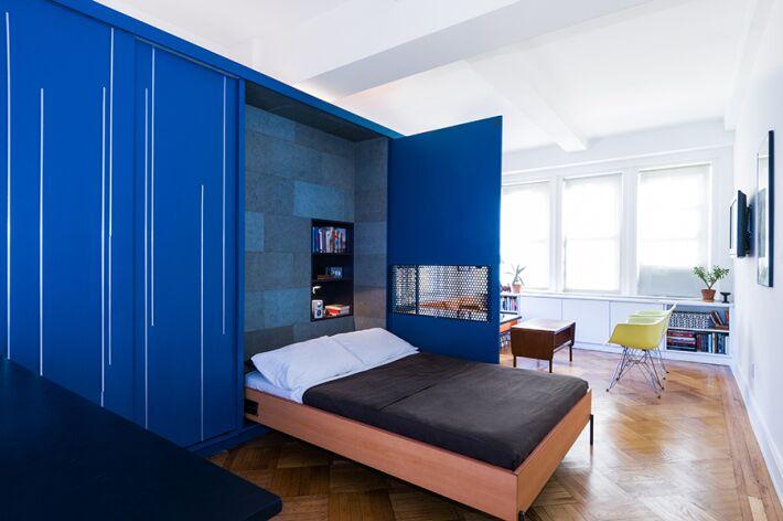 MKCA, Michael Chen Architects, tiny apartments, NYC micro housing, Unfolding Apartment