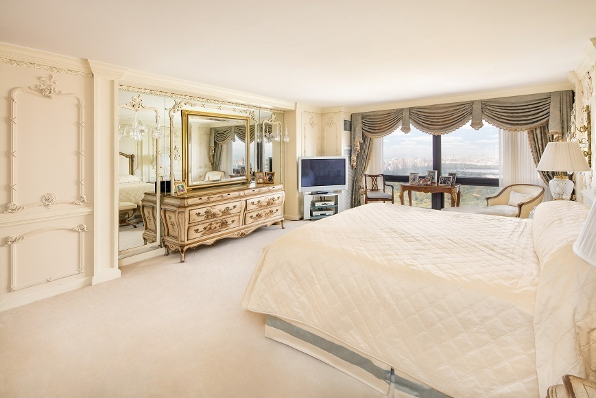 For 23 million you can be donald trump s downstairs neighbor 6sqft Trump home bedroom furniture
