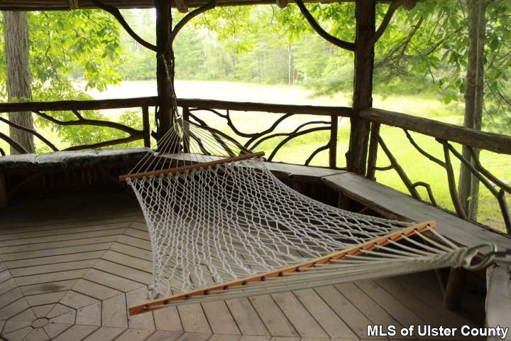 gazebo, 106 mountain laurel lane, catskills. hammock