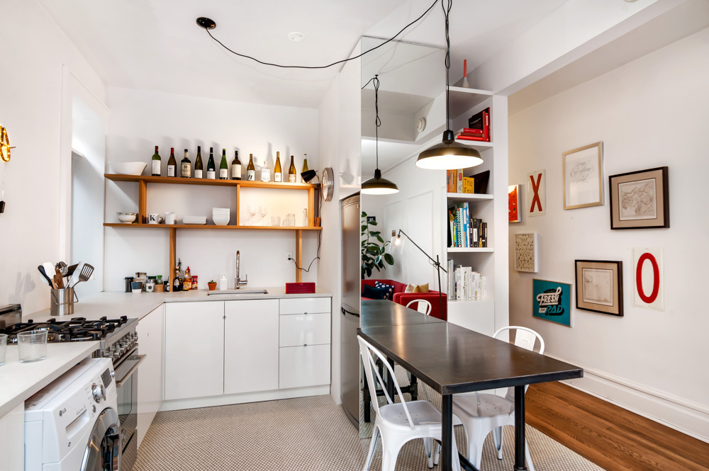 404 3rd street, kitchen, open dining area, co-op, one bedroom, park slope