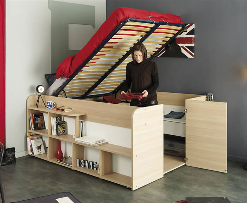Clever Bed Closet Combo Makes Room For Storage And Sleep 6sqft