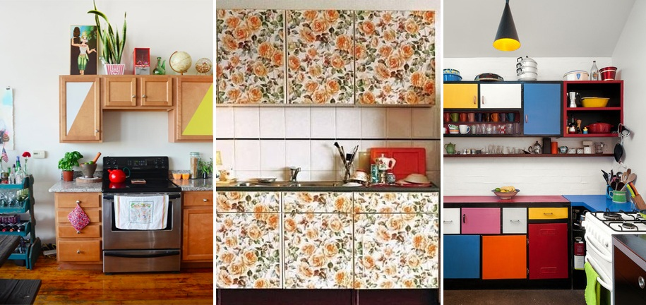 10 easy ways to give your rental kitchen a makeover 6sqft for Kitchen wallpaper ideas