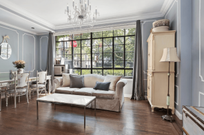 Look right into Stuyvesant Square Park through the huge windows at this $895K co-op