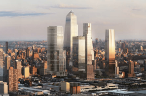 New renderings of Hudson Yards' Norman Foster-designed tower and food pavilion