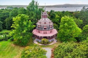 Live in an octagon-shaped, Victorian style home in Westchester for $40,000 a month