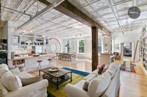 Horse stable turned loft with 10-foot tin ceilings asks $2.8M in Chelsea