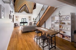 Stunning church details were woven into this $3,925/month Bushwick rental