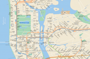 The Real MTA map shows only the subway lines that are currently functioning