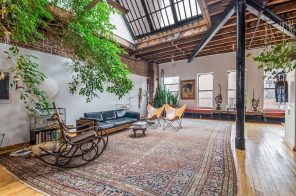 Quirky Union Square artist's loft with a massive skylight and floating library cube asks $4M