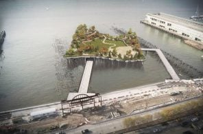 Construction restarts at Pier 55 offshore park with new walkways in place