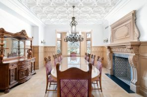 This $29M restored 1880s mansion is one of only three townhouses left on Central Park West