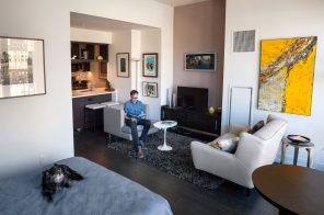 My 500sqft: An art collector from Philly swaps space for amenities at Hell's Kitchen's 555Ten