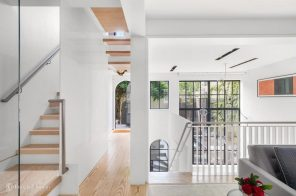 Formerly pink West Village townhouse returns for $7.8M with a period-perfect facade and sleek interiors